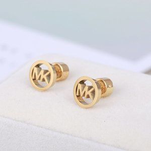 Michael Kors Hollow Marking Round Stud Earrings